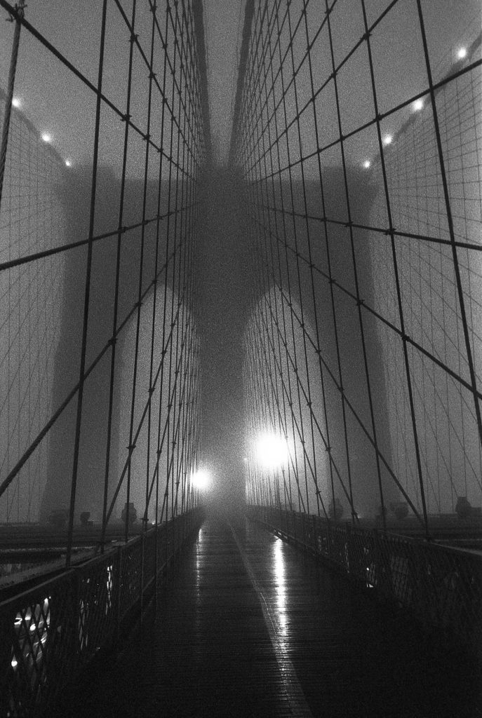 Brooklyn Bridge Fog - New York, New York