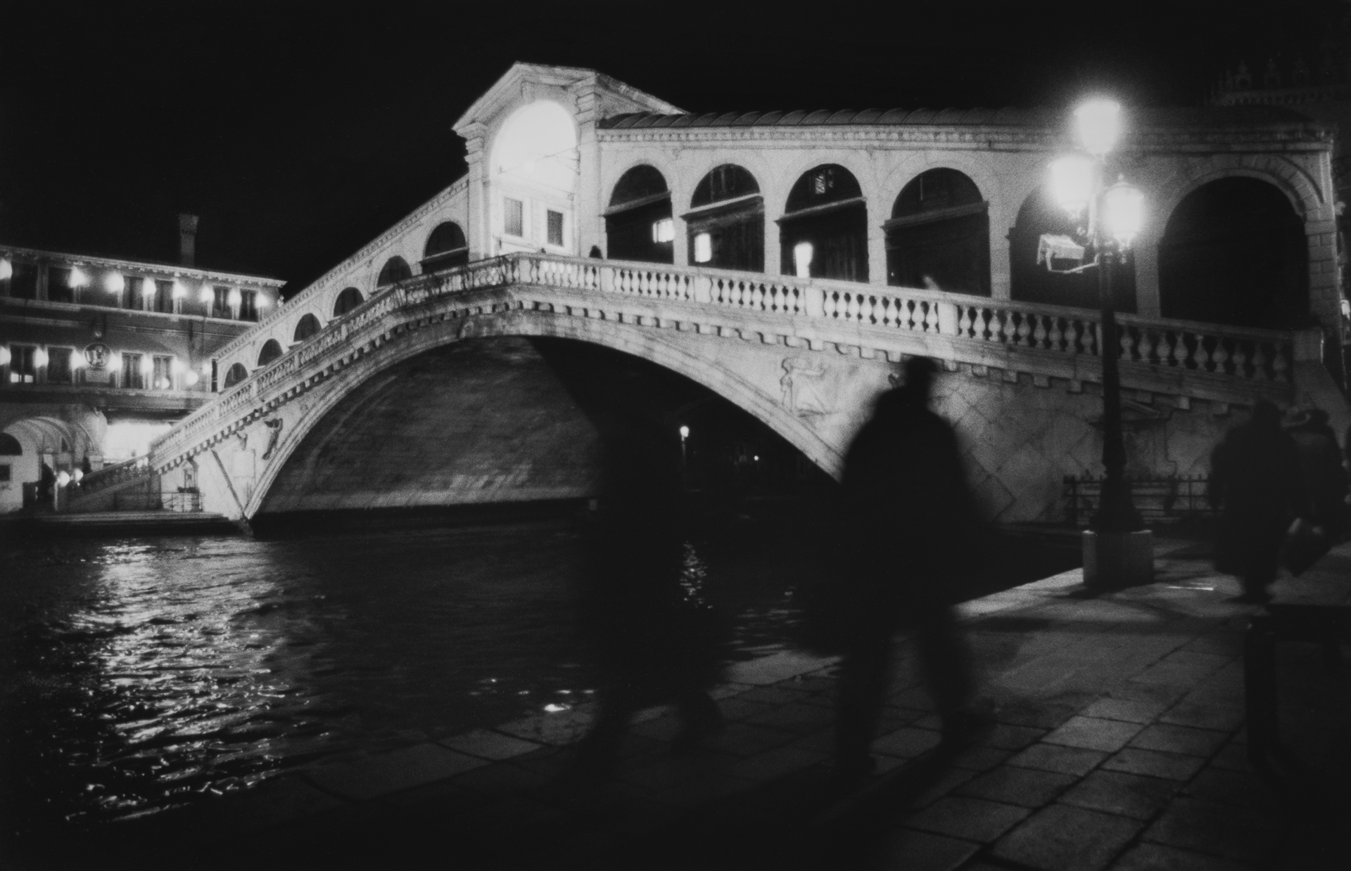 Shadows at the Rialto Bridge - Venice, Italy